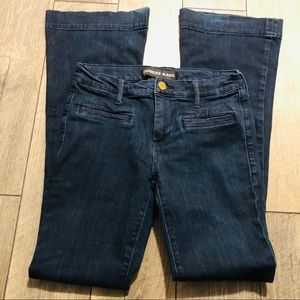Express slim flare mid rise jeans sz 4R